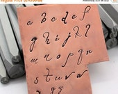 SiNGLE LeTTTER - Lowercase DANIELA - monogram font - letters range in size from 1.5-8mm - includes How to Stamp Met