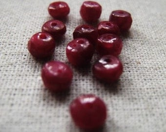 Gemstone Rondelle Ruby Item No. 6485