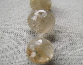 Gemstone Rondelle  Golden Rutilated Quartz Item No. 6594