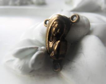 Antique Gold Rosary Connector Religious Connector Prayer Bead Center Item No. 1011 2572