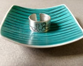 Friendship Silver Ring - adjustable ring, Wideband ring - RESERVED FOR MARA