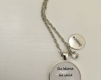 She believed she could so she did Kobi Yamada inspired necklace