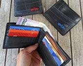 Bike Tube Wallet - Black Billfold Wallet - Mens Vegan Wallet