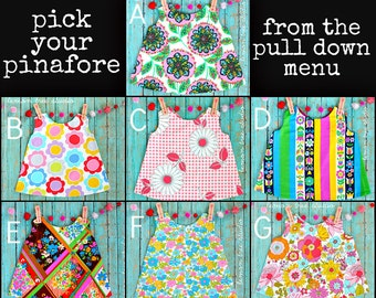 Special Price -- PICK Your Pinafore -- Girls Reversible Open Back Top NEW