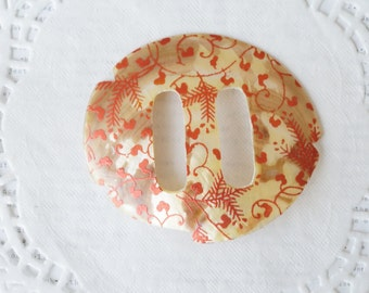 1 x Hand Painted Oval Decorative Shell
