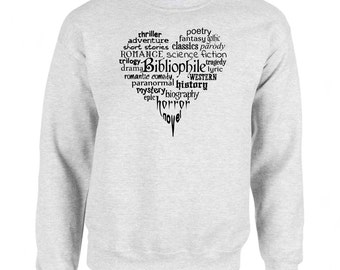 Bibliophile Book Lover Bookworm Art Men's Sweatshirt Small - 2XL