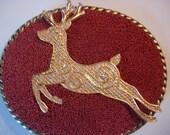 Christmas Belt Buckle - Reindeer