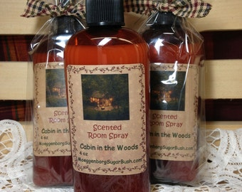 Cabin in the Woods Highly Scented Room Spray - 4 ounce bottle-fragrant Moeggenborg Sugar Bush
