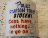 Police Station Toilet Stolen Cops have nothing to go on Toilet Paper Wrap Office Party Gag Gift White Elephant Exchange