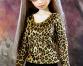 30% OFF! BJD Leopard Velvet Top for Unoa Volks MSD 1/4 Dollfie