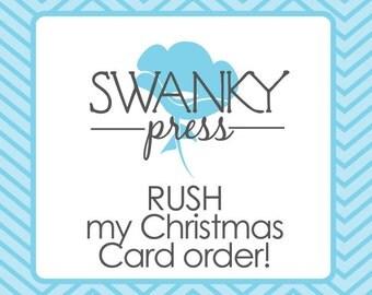 Rush my Swanky Press Christmas cards!