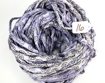 Sari silk Ribbon, Recycled Silk Sari Ribbon, Purple sari ribbon, Block print Sari Ribbon, printed sari ribbon, silk ribbon
