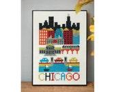 Chicago Cross Stitch Pattern Instant Download