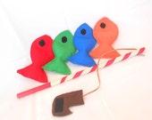 Fishing Game, Felt Fishing Game, Fishing Toy, Fishing Game, Montessori Toy