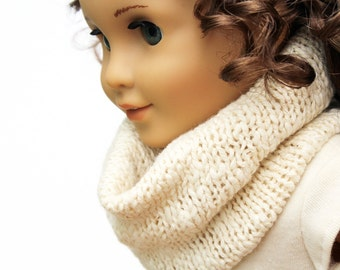 Fits American Girl Doll - Doll Accessories - Luxurious Chunky Knit Cowl in Ivory