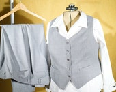 RESERVED----Custom 3-Piece Woman's Wedding Suit