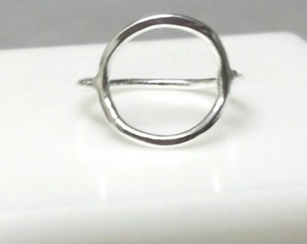 Circle Ring, Eternity Ring, Size 5, Shapes Ring, Pinky Circle Ring, Fine Silver Ring, Infinite RIng Eternal Handmade Maggie McMane Designs