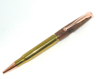 Handmade 30-06 Cartridge Bullet Ballpoint Pen Walnut
