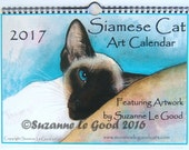 SIAMESE CAT CALENDAR 2017 Original art designs by Suzanne Le Good