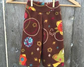 Size Medium --- Space Monkey Anti Pill Fleece Yoga Pants (ready to ship)