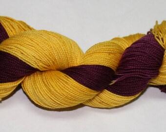 Ready to Ship - Gryffindor Hand Dyed Sock Yarn - Twist Sock