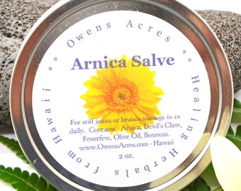 Arnica Salve - Stiff Joints, Muscle Aches, Bruises, Skin Salve, Herbal Salve, Handmade Salve