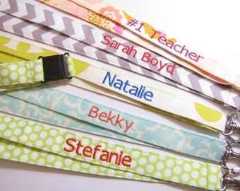 Personalized Safety Breakaway Lanyard, Names on Lanyard, Teacher Lanyard,Teacher Gift,  Nurse Lanyard, School Lanyard, 15 Letters , Chevrons