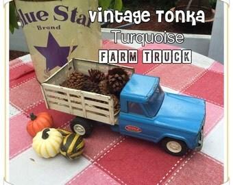 Vintage TONKA - Turquoise Farm Truck - Farmhouse Fun !