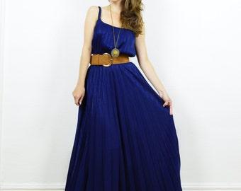 Boho maxi dress, vintage maxi dress, navy blue dress, occasion dress, bohemian dress, evening dress, maxi dress, wedding dress, avant garde