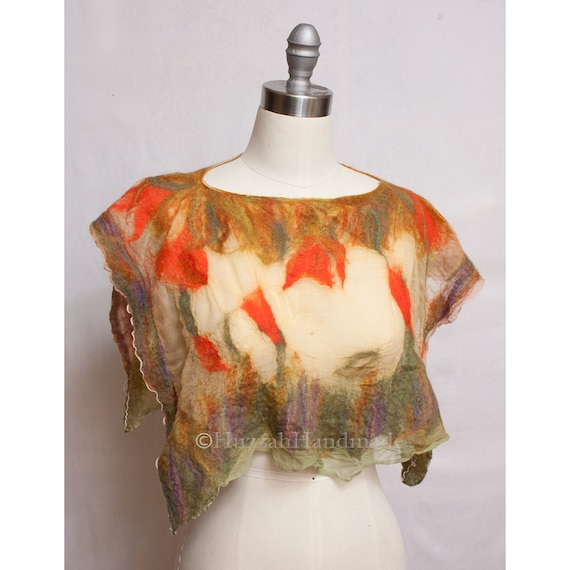 Nuno Fetled Capelet Coverup Art to Wear