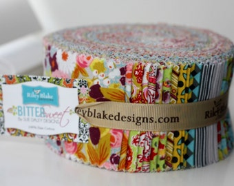 SALE 2.5 inch strips BITTERSWEET Jelly Roll fabric by Riley Blake from Sue Daley