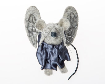 Weeping Angel Doctor Who Monster mouse ornament artisan felt rat hamster mice cute gift doctor who fan or Dr Who collector