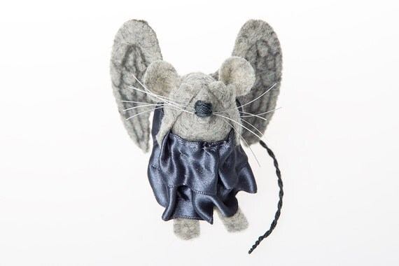 Weeping Angel Doctor Who mouse ornament felt rat hamster mice cute gift for boyfriend husband brother dad doctor who fan Dr Who collector