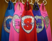 HAND Crafted   SuperHero Cape and Mask Set- Personalized- You Choose Color, Emblem and Name -