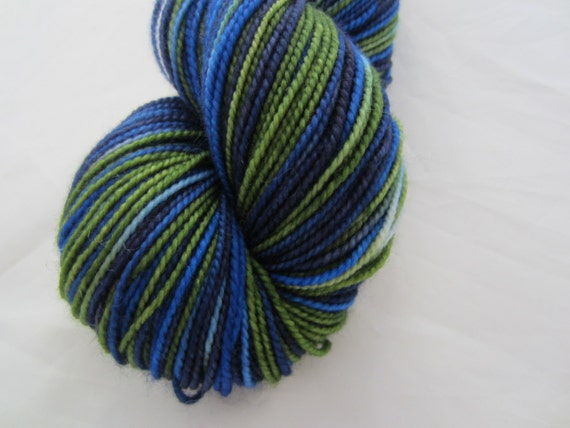Blue Salvia - Dyed to Order - Hand Dyed - Merino Wool Yarn - Fingering Weight