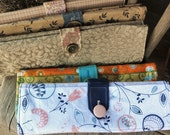 Custom Knitting Needle Storage Case For Straight, Circular, and Double Pointed Needles,  Knitting Organizer, Roll With Button Closure