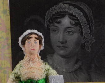 Jane Austen Miniature Doll Miniature Author of Pride and Prejudice Regency Era