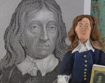 John Milton Doll Miniature Author Collectible Art Classic Literature