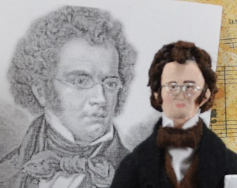Franz Schubert Doll Miniature Austrian Composer and Musician