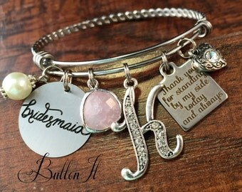 Wedding gifts for bridesmaid, Maid of honor gift, BRIDESMAID gift, rehearsal dinner gift, Will you be my maid of honor, BLUSH pink rehearsal