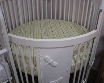Round Crib Sheet .... sewing service.... Made with Client's Fabric -Labor Only