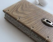 Phone book Address Notebook  Reclaimed wood Key hole