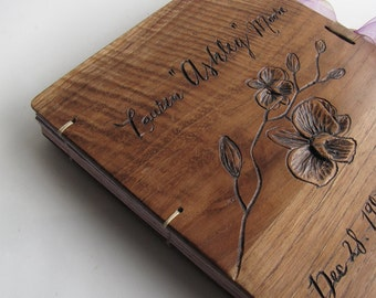 Nature Woodland wedding guest book Rustic