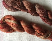 Collection of Two Hand dyed Medium Perle, Rust, Walnut, Grey, Taupe