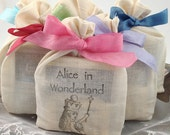 Alice in Wonderland Party Favors Fully Assembled Tea Favors Wedding Bridal Shower Set of 10