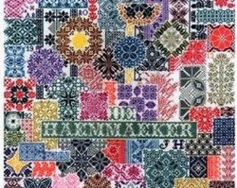 Cross Stitch Pattern, Patchwork Sampler Counted Cross Stitch Pattern by Jan Houtman Designs, Sampler DD