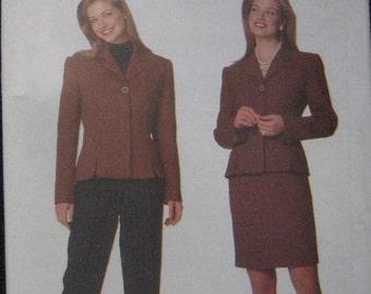 Butterick Jacket Skirt Pants Pattern 5197