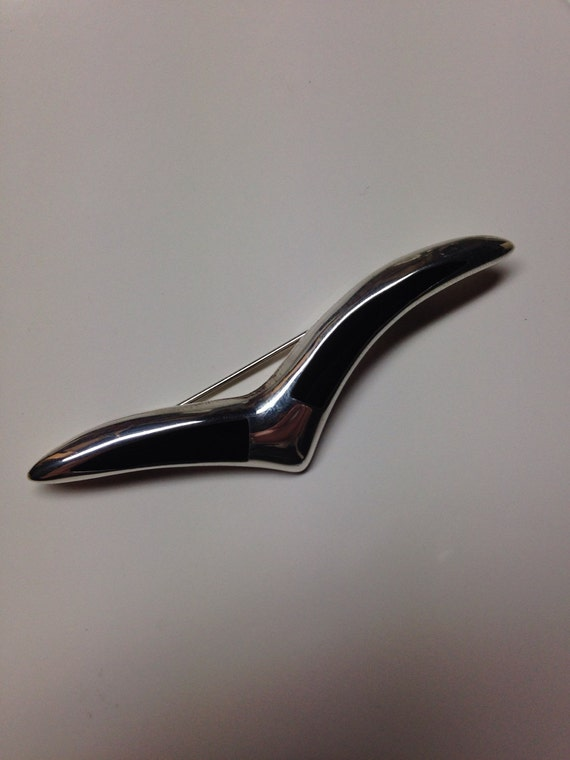 Striking Mexican Midcentury Abstract Brooch