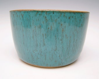 Modern Cactus planter Succulent planter Stoneware Modern planter Contemporary planter Turquoise Planter pot 6 x 3 3/4 Free shipping  scp8