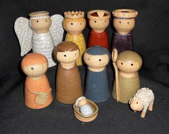 Twelve Piece Nativity Set